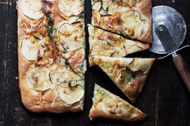 Aged Cheddar and Apple Focaccia
