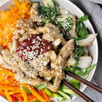 Fast and Easy Sesame Chicken Bibimbap