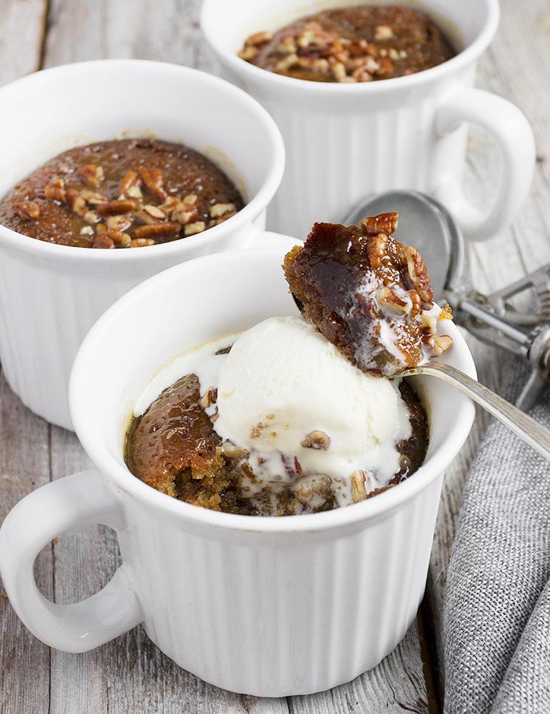 Sticky Toffee Mug Cakes
