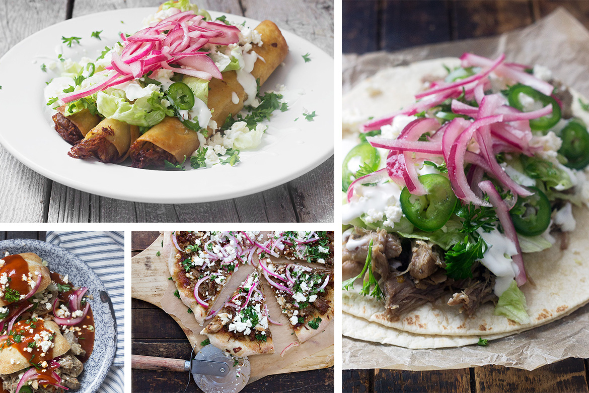 Slow Cooked Mexican Carnitas: Used 4 Ways