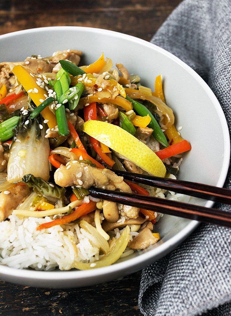 15 Minute Lemon Chicken Stir Fry Seasons And Suppers