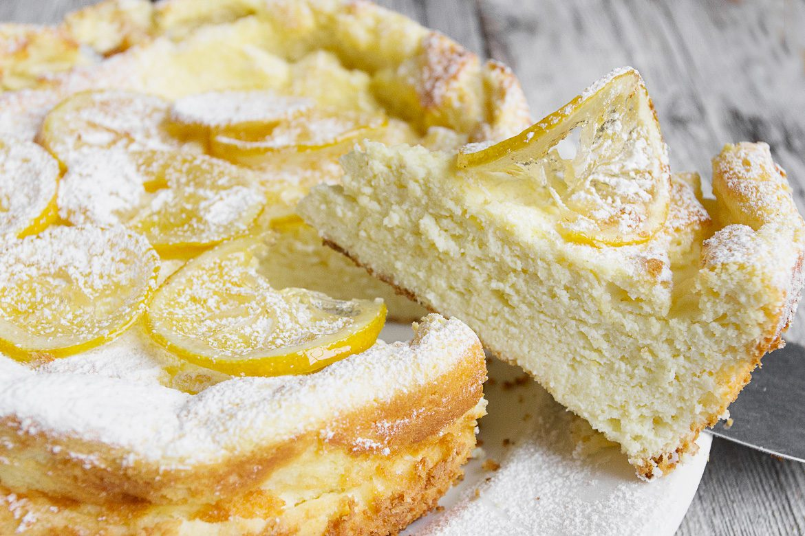 Lemon Ricotta Cake with Candied Lemons | Seasons and Suppers