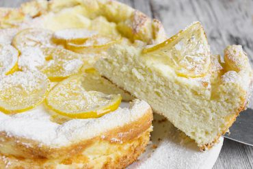 Lemon Ricotta Cake with Candied Lemons