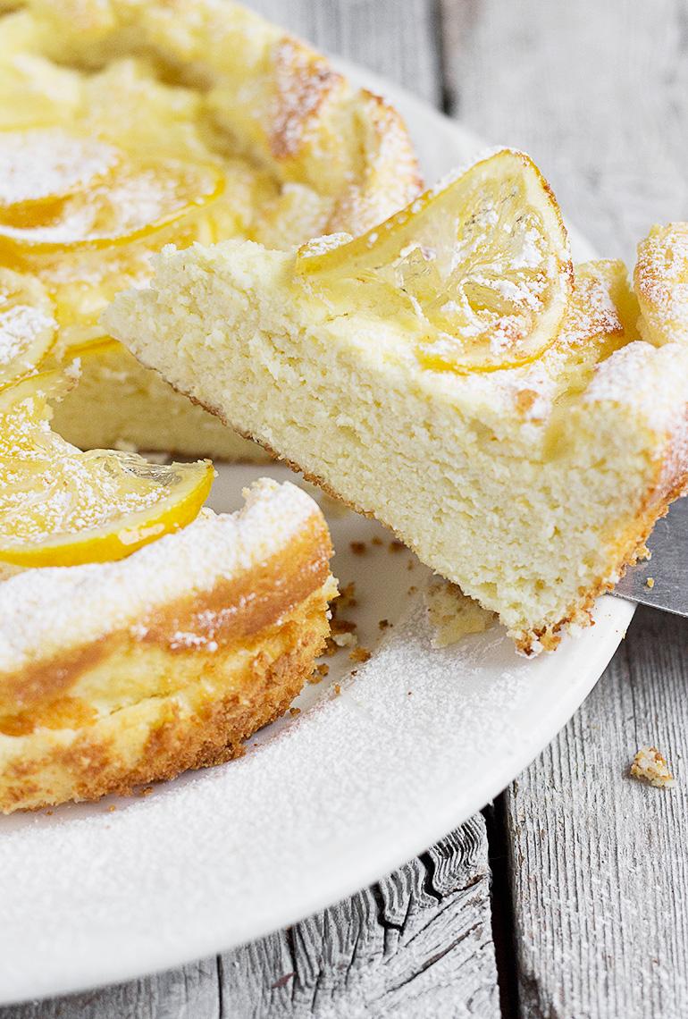 Lemon Ricotta Cake with Candied Lemons