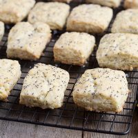 Glazed Lemon Poppy Seed Scones