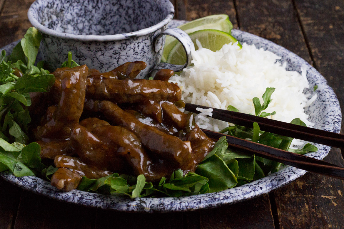 Shaking Beef with Watercress