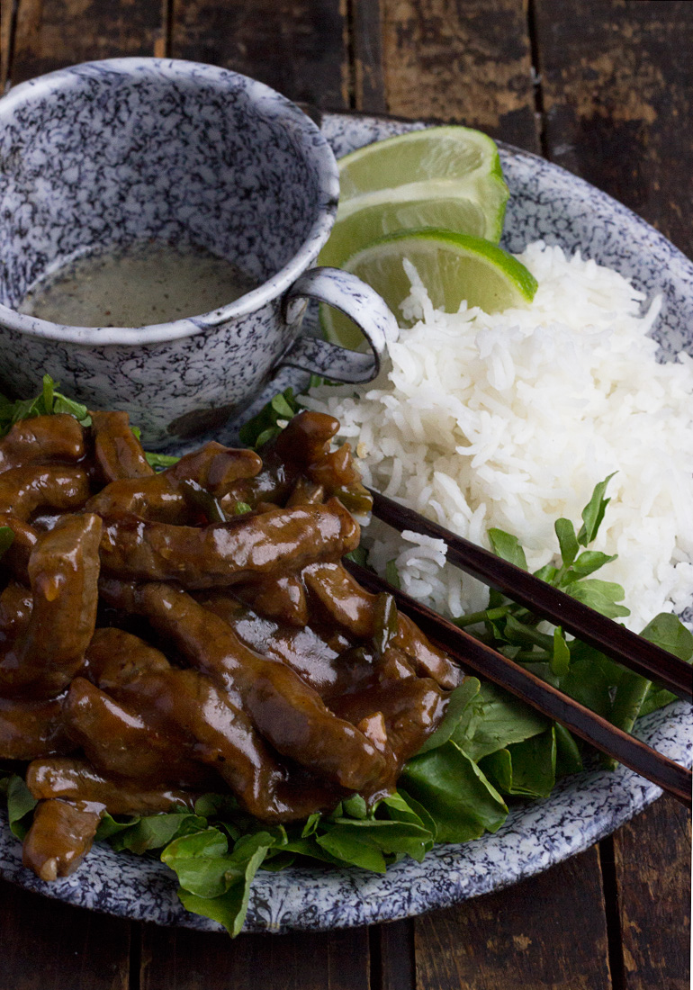 Vietnamese Shaking Beef with Watercress