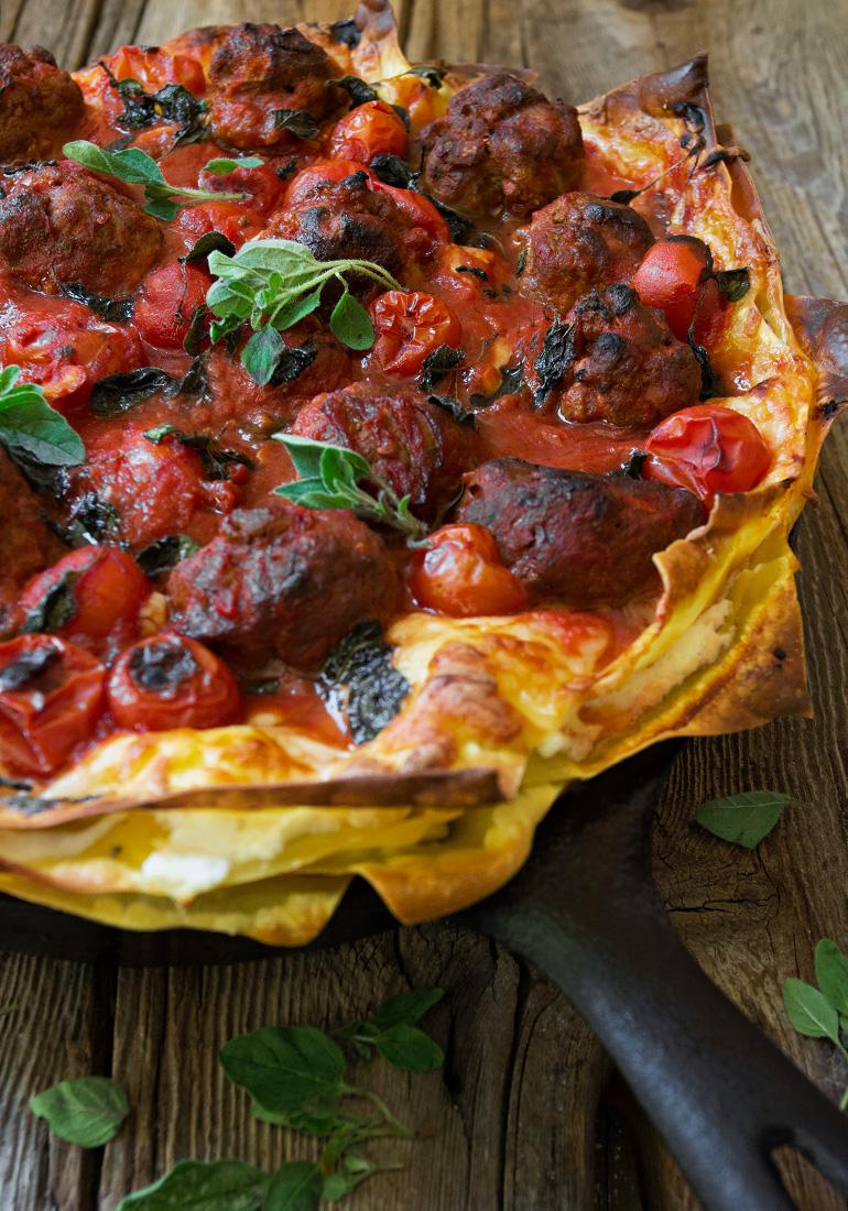 Skillet Chorizo and Ricotta Lasagna