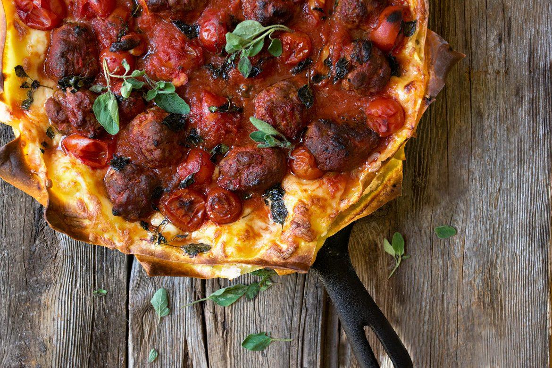 Chorizo, Ricotta and Oregano Lasagna