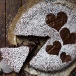Swedish gooey chocolate cake sliced