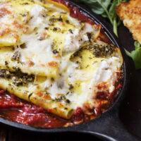 deconstructed pesto ricotta lasagna