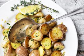 Garlic and Lemon Roast Potatoe