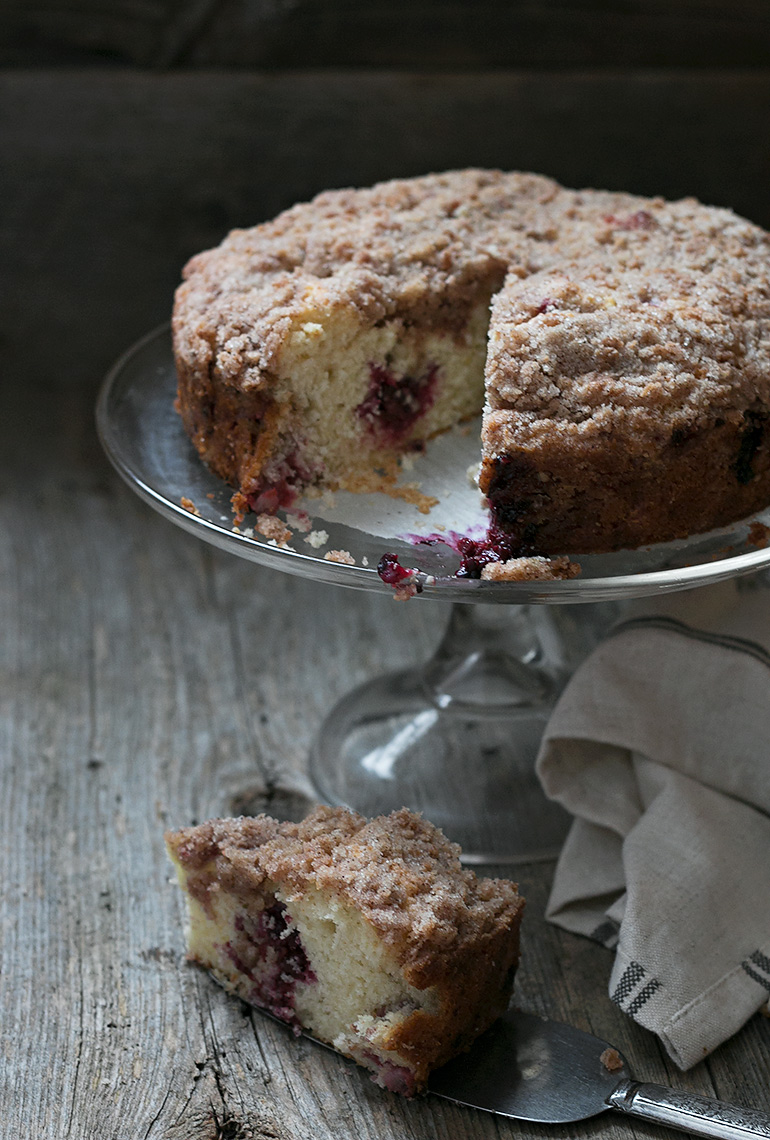 Very Berry Raspberry Blackberry Crumb Cake
