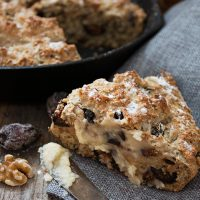 Fig and Walnut Soda Bread with Honey Butter