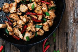 Skillet Kung Pao Chicken for Two