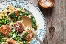 Pork Ricotta Meatball Soup with Parmesan Broth