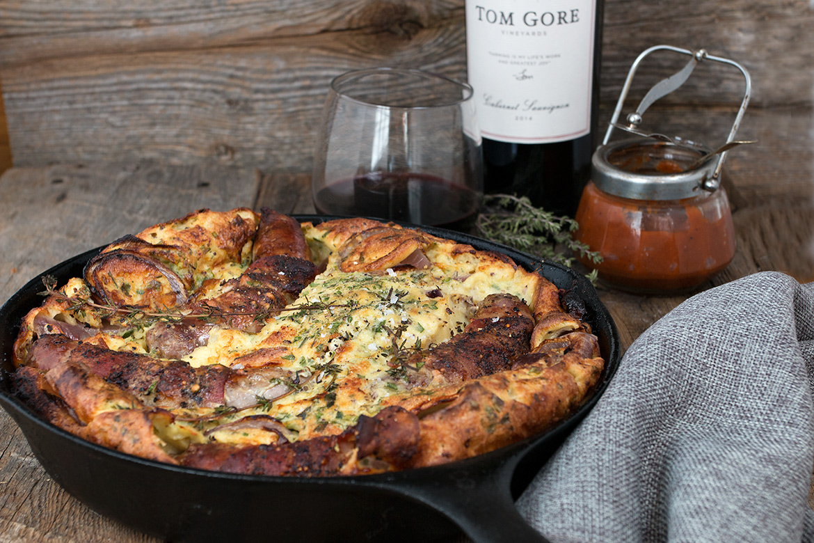 Toad in the Hole with Cabernet Ketchup