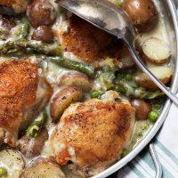 Creamy Asparagus and Mini Potato Chicken