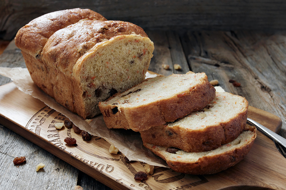 Carrot Raisin Walnut Yeast Bread - Seasons and Suppers