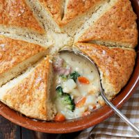 Gruyere Biscuit Topped Ham Pot Pie