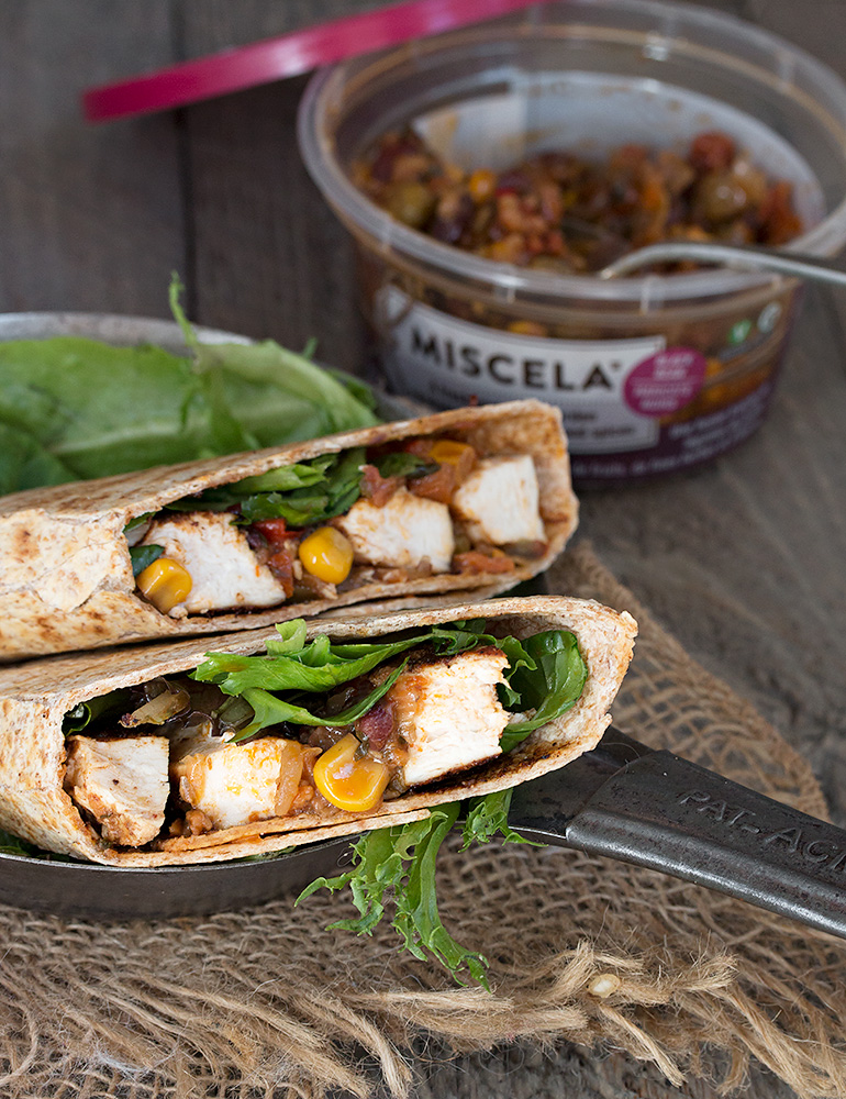 Southwest Chicken Wraps with Black Bean