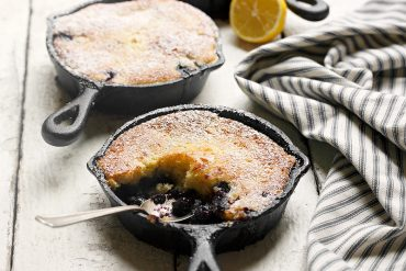 Individual Blueberry Lemon Pudding Cakes