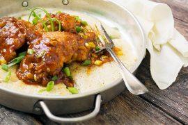 Spicy Korean Chicken with Crispy Rice