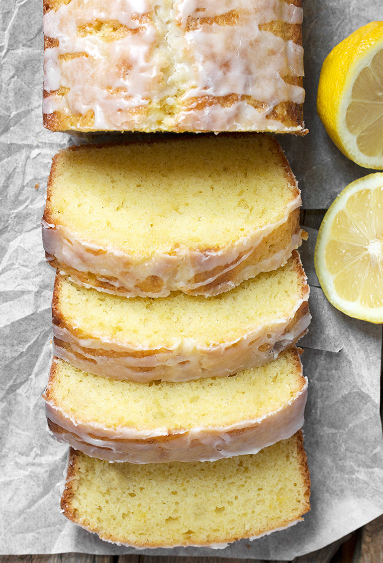 Glazed Lemon Pound Cake Loaf