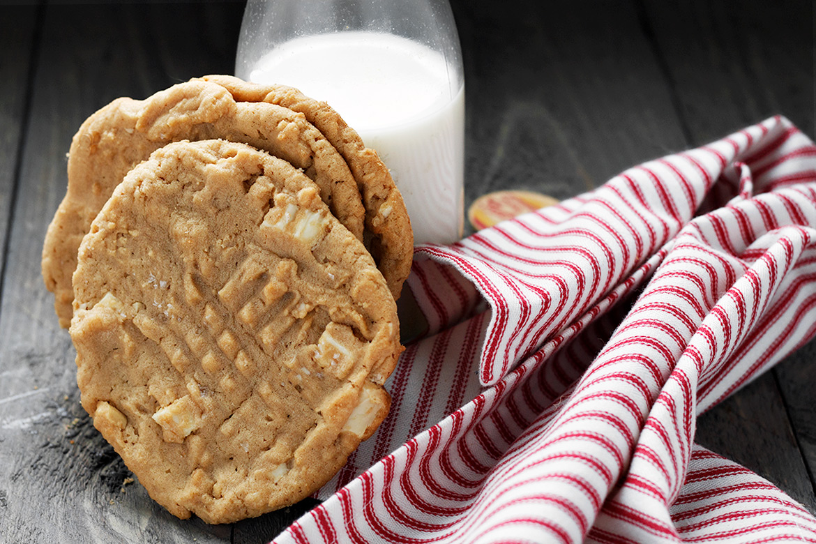 Double Peanut Butter and White Chocolate Chunk Cookies