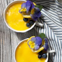 Tea Cup Lemon Curd No-Bake Cheesecake