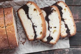 Vanilla Brownie Pound Cake Loaf