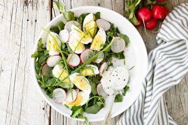 Watercress and Egg Salad with Yogurt Dressing