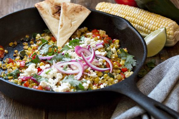 Charred Corn and Pepper Skillet
