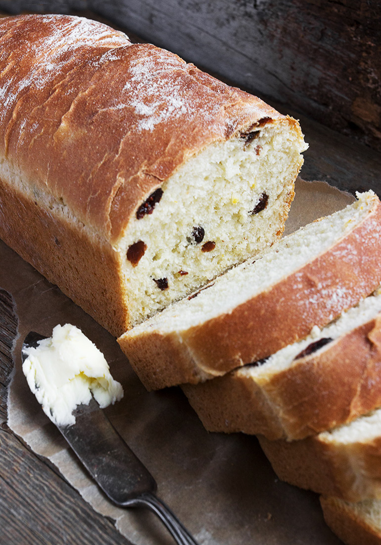 Orange Marmalade and Dried Cranberry Yeast Bread