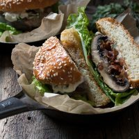 Bacon Jam Filled Portobello Burger