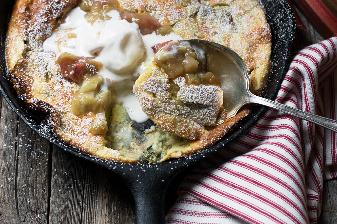 Roasted Rhubarb Dutch Baby