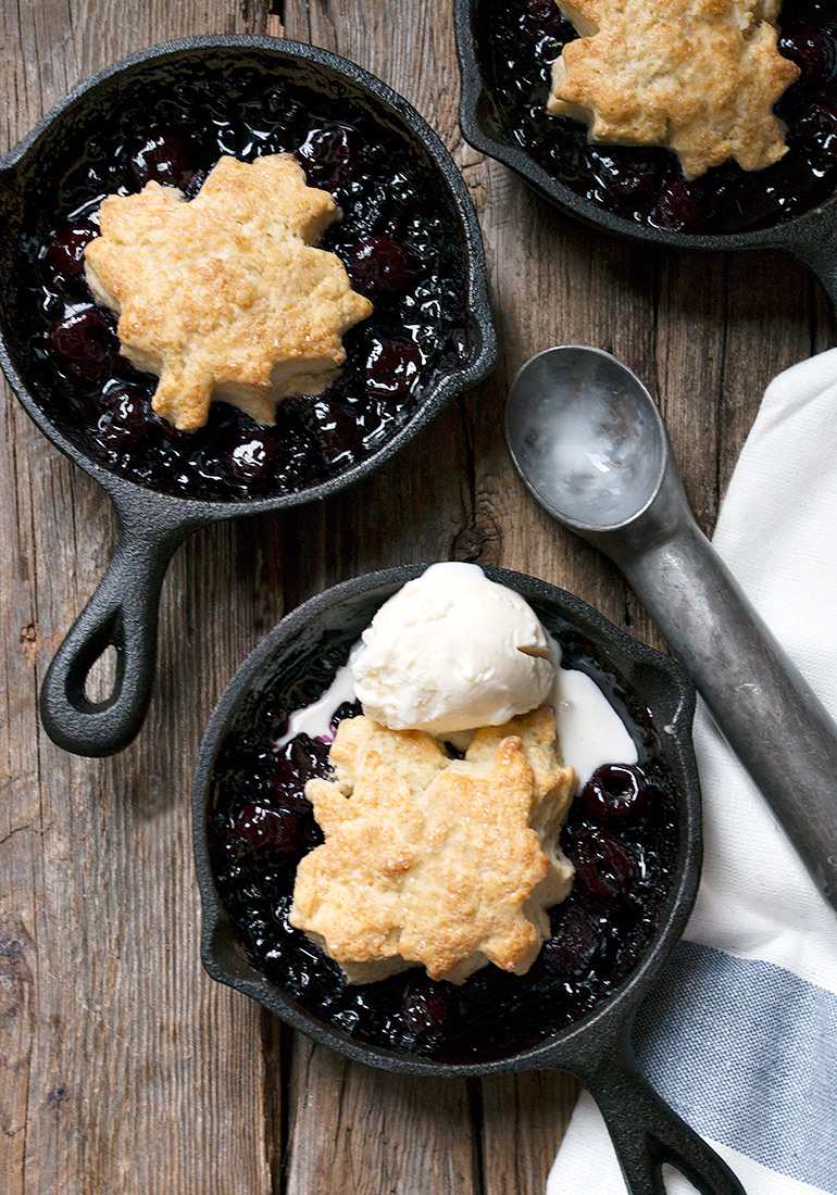 Warm Shortcake Topped Fruit Skillets