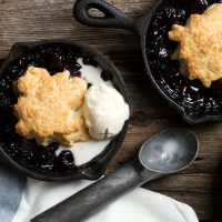 Shortcake Topped Fruit Skillets