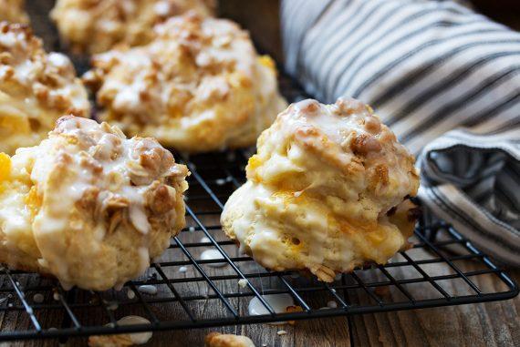 Peach Crisp Buttermilk Biscuits
