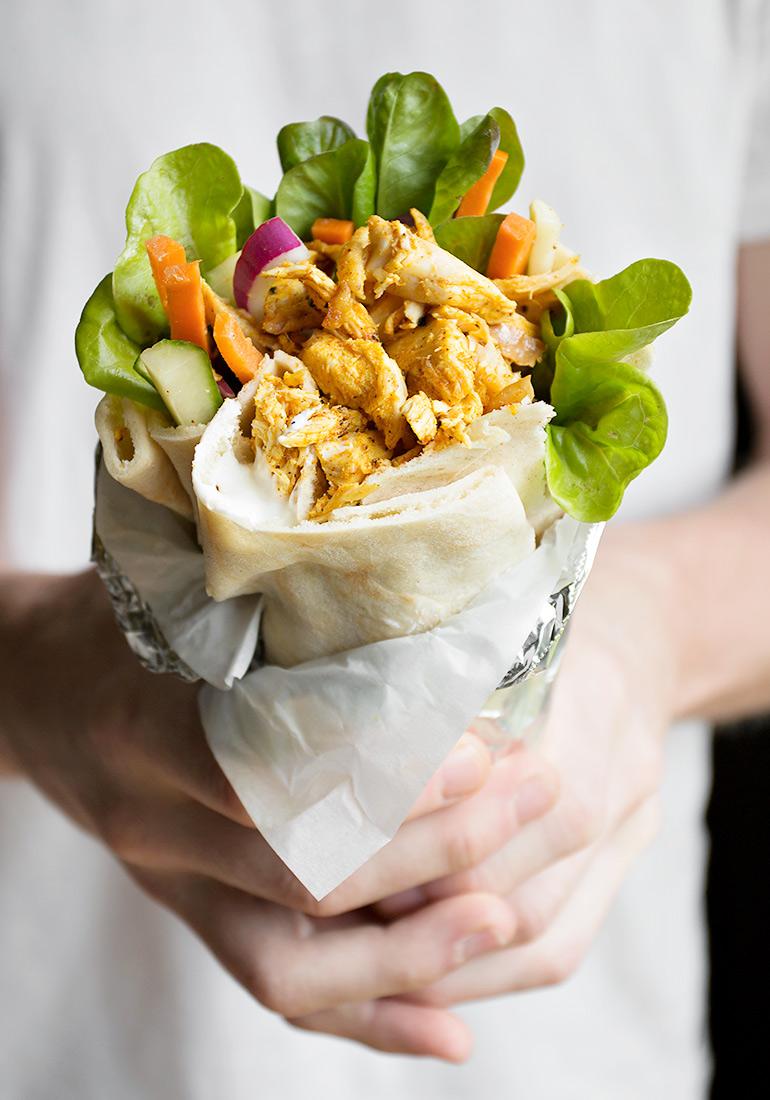 Rotisserie Chicken Shawarma Pita Wrap