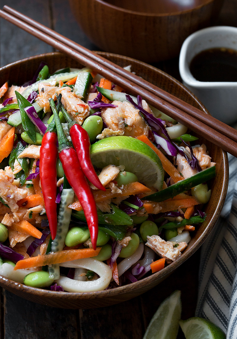 Chili Lime Salmon Noodle Salad