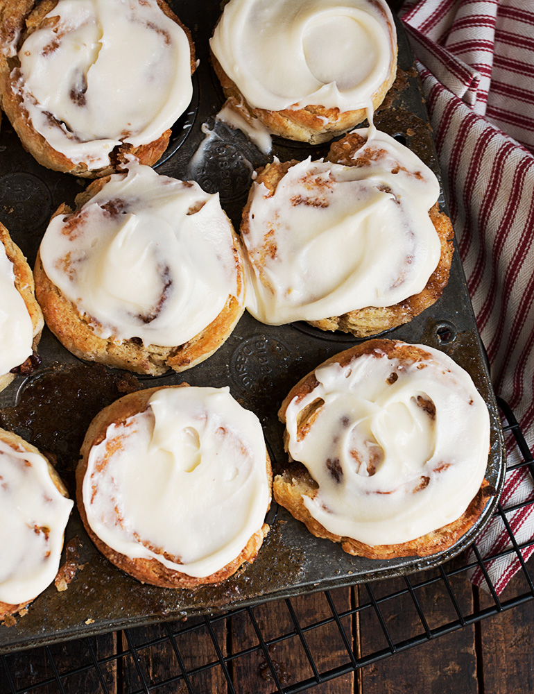 Cinnamon Roll Ragamuffins - no yeast cinnamon rolls! Satsify your craving in about 30 minutes.