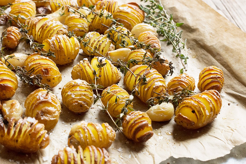 Hasselback Mini Potatoes