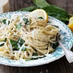 15-Minute Lemon Spinach Pasta