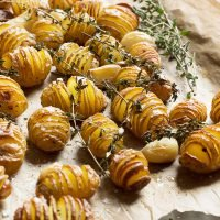 Mini Hasselback Potatoes