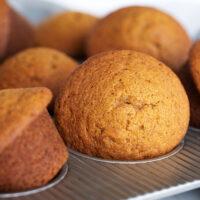 pumpkin muffins in muffin tin