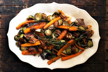 Roasted Vegetables with Maple Candied Pecans