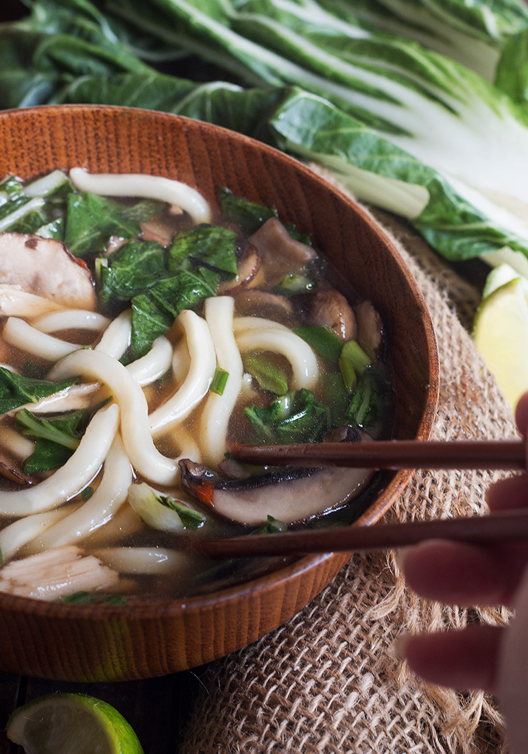 15-Minute Asian Turkey Noodle Soup - a quick, easy and delicious way to use up left-over turkey!