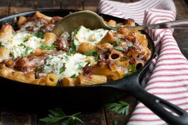 Beef Brisket Baked Rigatoni with Ricotta