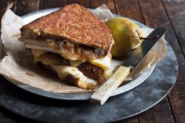 Pear, Gouda and Balsamic Onion Grilled Cheese